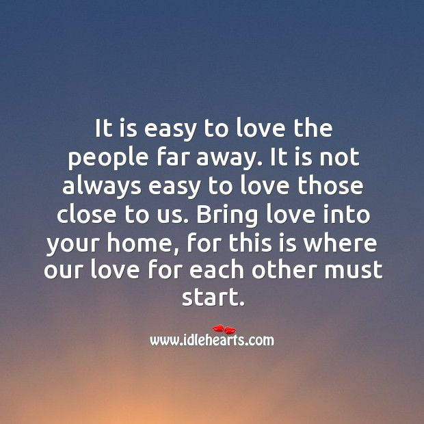 Image, It is not always easy to love those close to us.