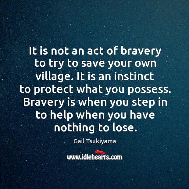 Image, It is not an act of bravery to try to save your
