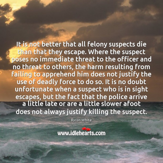Image, It is not better that all felony suspects die than that they