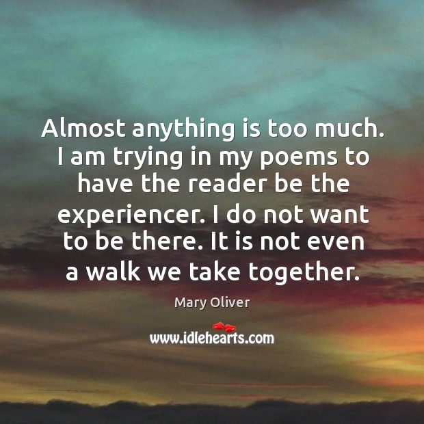 It is not even a walk we take together. Image
