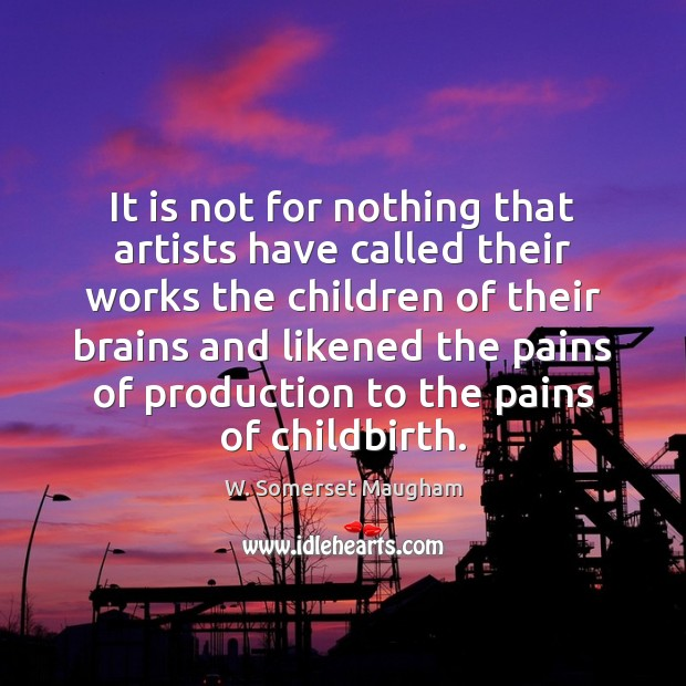 Image, It is not for nothing that artists have called their works the