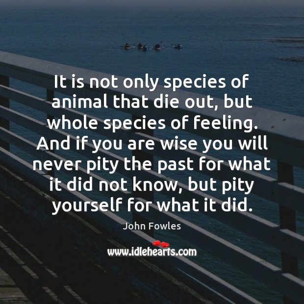 It is not only species of animal that die out, but whole John Fowles Picture Quote