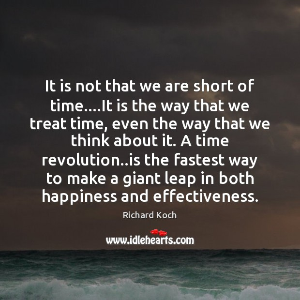 It is not that we are short of time….It is the Image