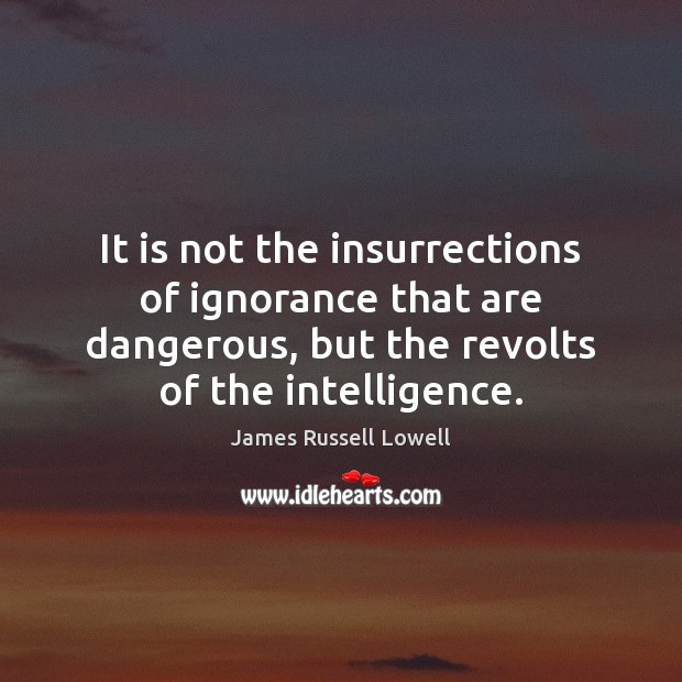 It is not the insurrections of ignorance that are dangerous, but the Image
