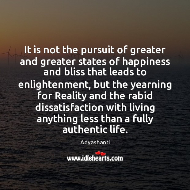 Image, It is not the pursuit of greater and greater states of happiness