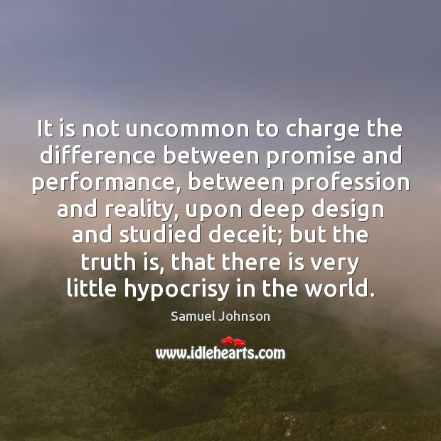 It is not uncommon to charge the difference between promise and performance, Image