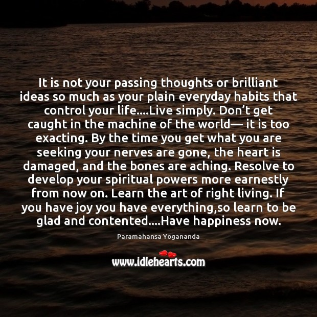 It is not your passing thoughts or brilliant ideas so much as Image
