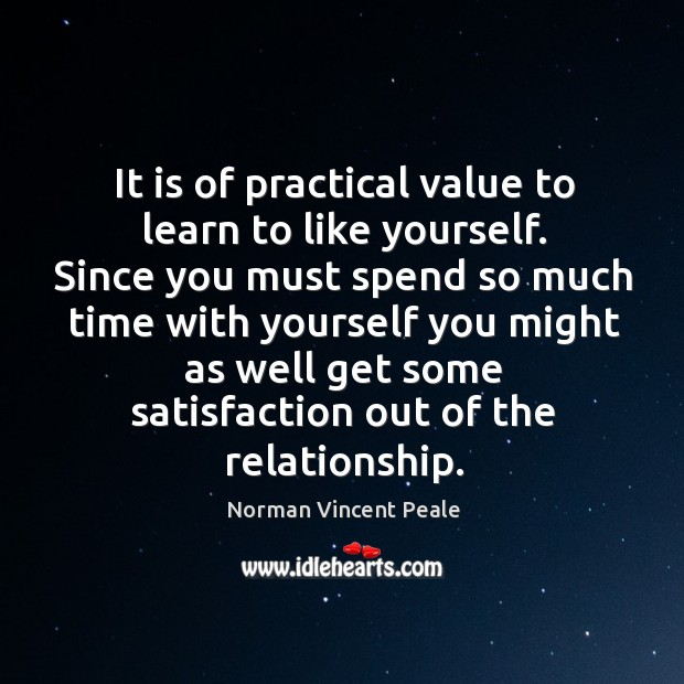 Image, It is of practical value to learn to like yourself.