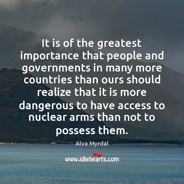 Image, It is of the greatest importance that people and governments in many