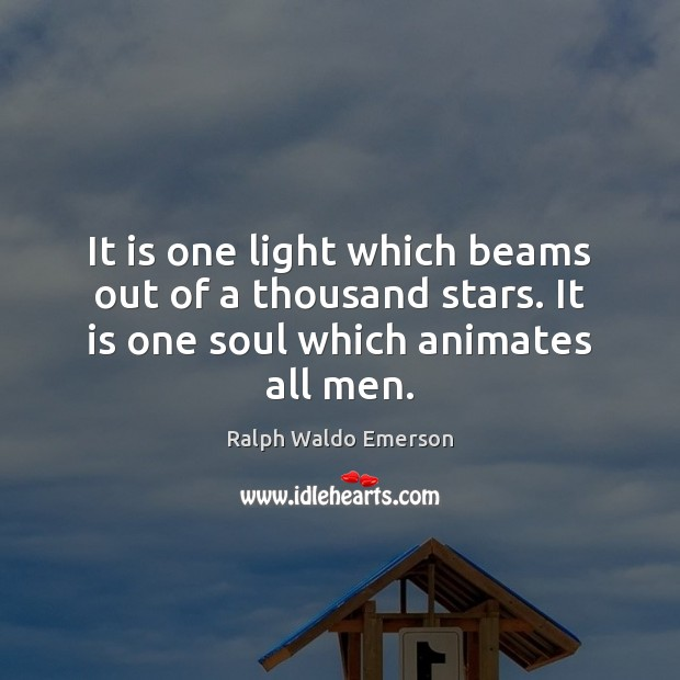 Image, It is one light which beams out of a thousand stars. It
