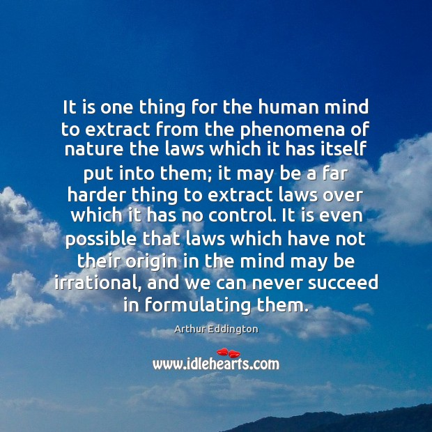 Image, It is one thing for the human mind to extract from the
