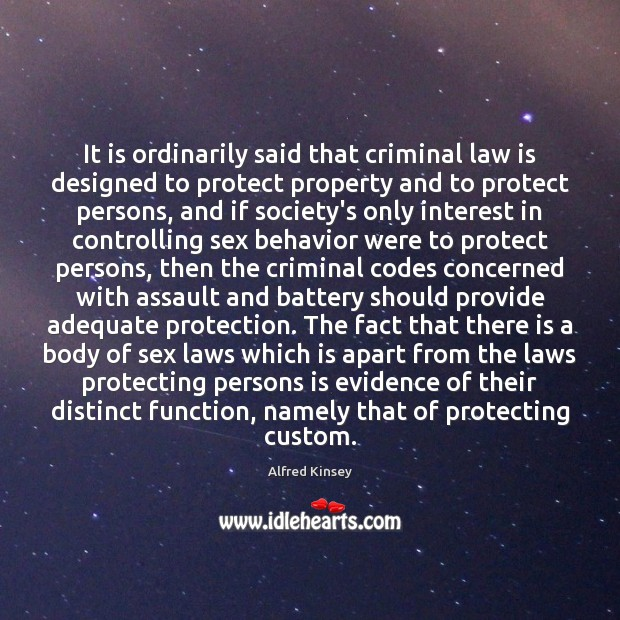 Image, It is ordinarily said that criminal law is designed to protect property