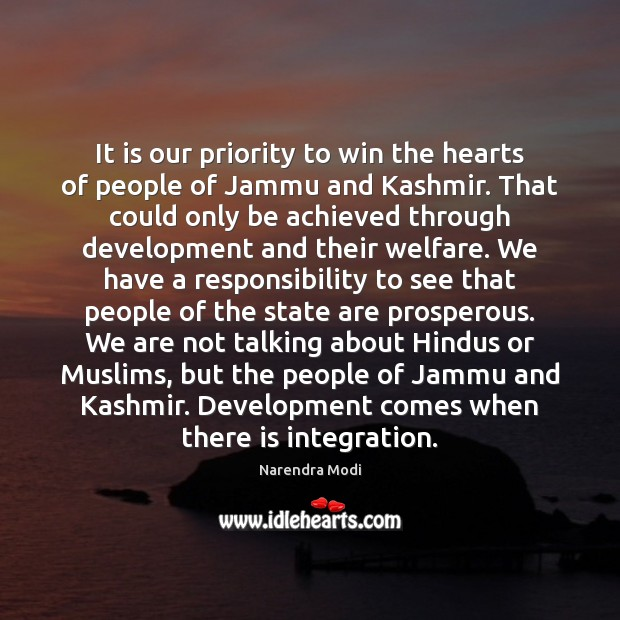 Image, It is our priority to win the hearts of people of Jammu