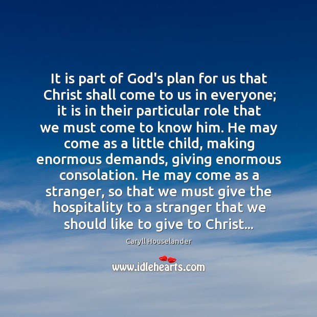 It is part of God's plan for us that Christ shall come Image