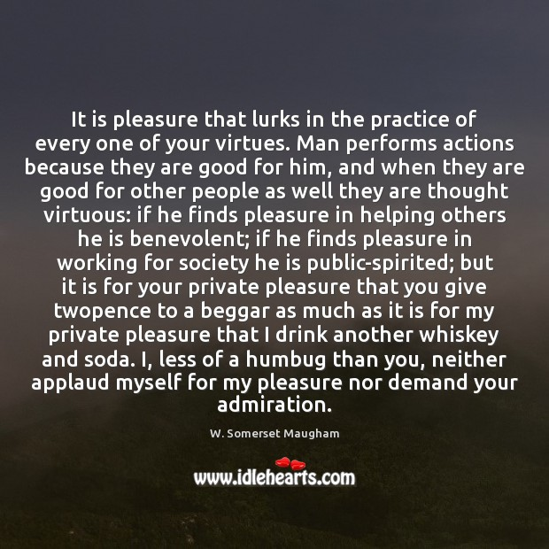It is pleasure that lurks in the practice of every one of Image