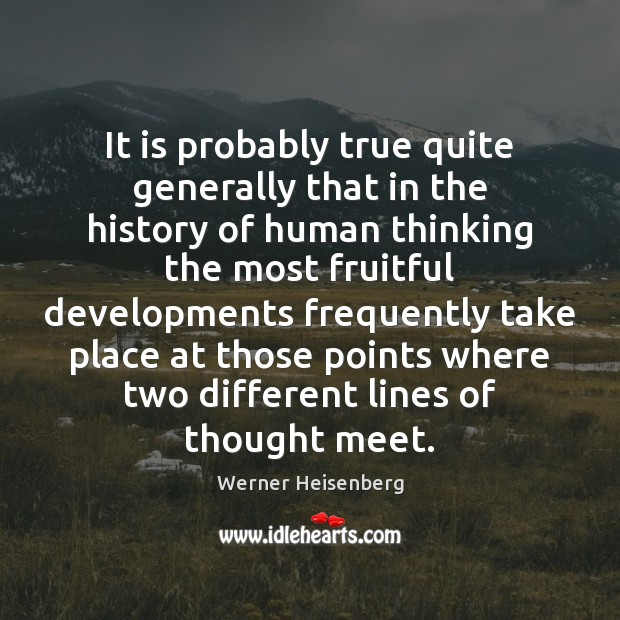 It is probably true quite generally that in the history of human Image