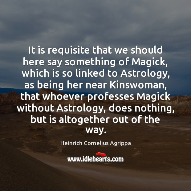 Image, It is requisite that we should here say something of Magick, which