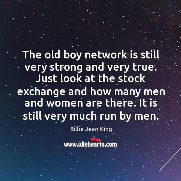 It is still very much run by men. Image