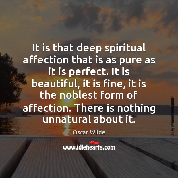 Image, It is that deep spiritual affection that is as pure as it