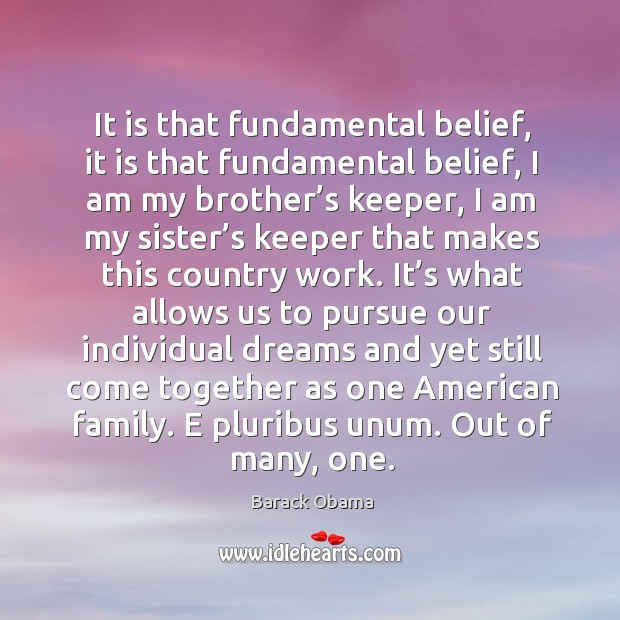 It is that fundamental belief, it is that fundamental belief, I am Image