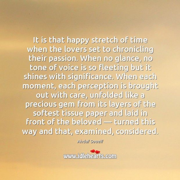 Image, It is that happy stretch of time when the lovers set to