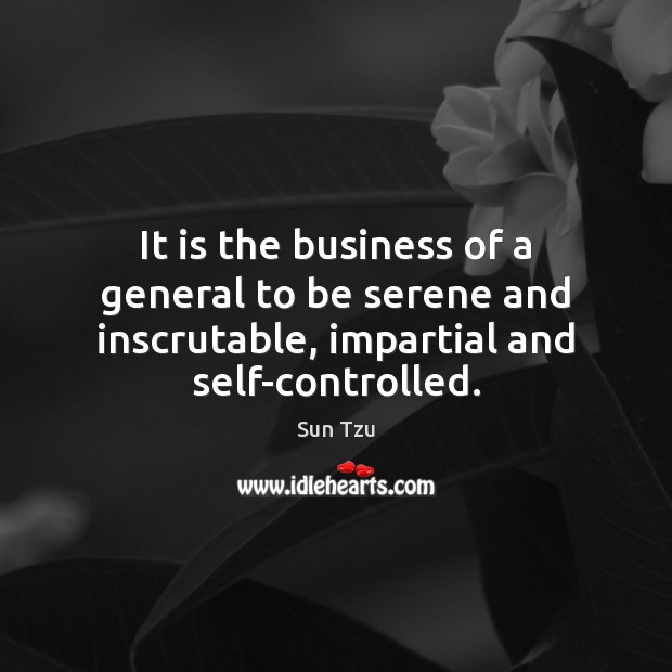 Image, It is the business of a general to be serene and inscrutable,