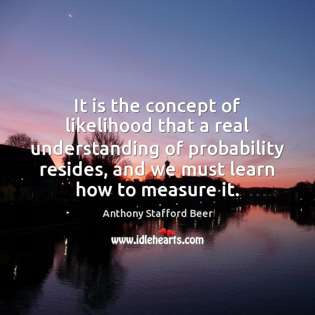 Image, It is the concept of likelihood that a real understanding of probability