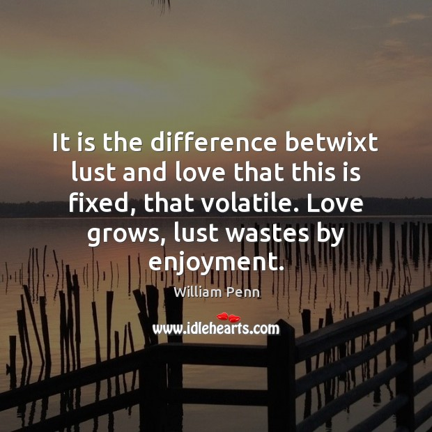 Image, It is the difference betwixt lust and love that this is fixed,