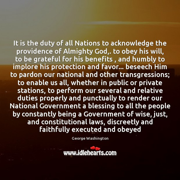 Image, It is the duty of all Nations to acknowledge the providence of