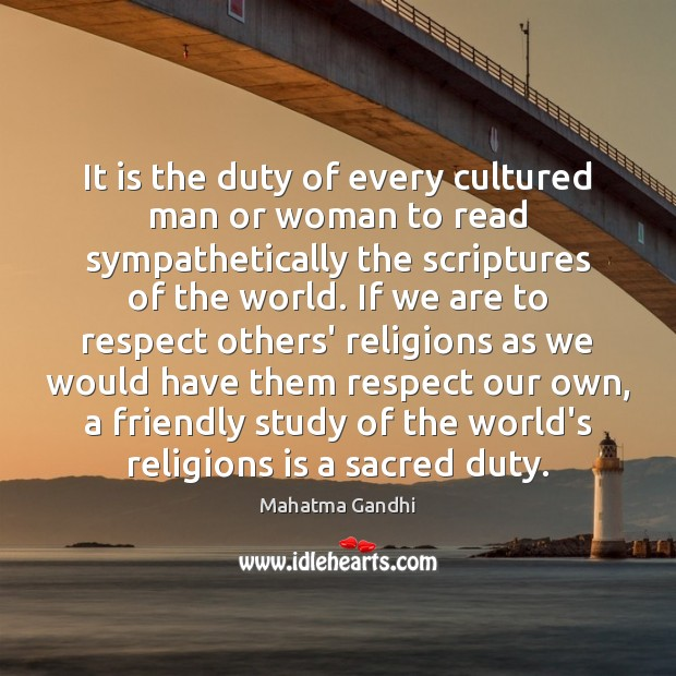 It is the duty of every cultured man or woman to read Image