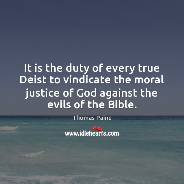 Image, It is the duty of every true Deist to vindicate the moral