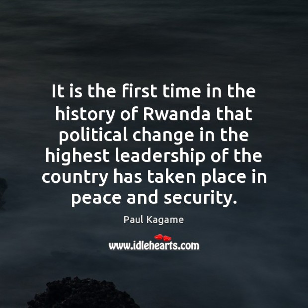 It is the first time in the history of Rwanda that political Image