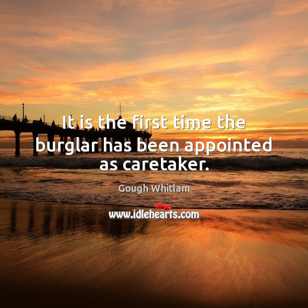 It is the first time the burglar has been appointed as caretaker. Image