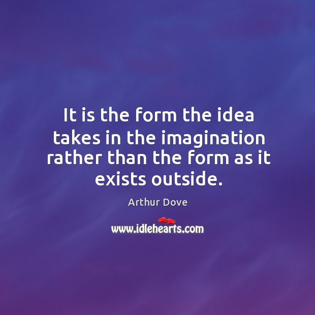 It is the form the idea takes in the imagination rather than Image