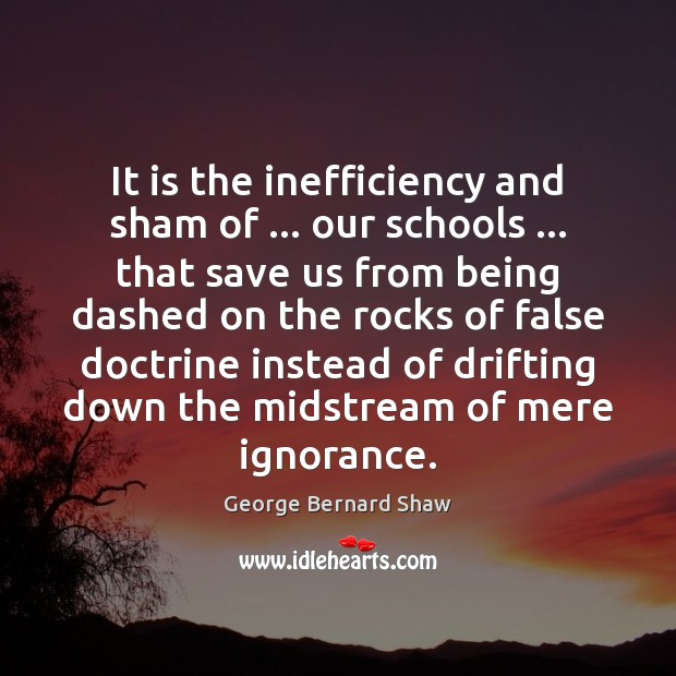 Image, It is the inefficiency and sham of … our schools … that save us