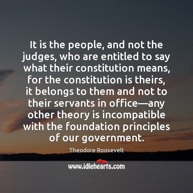 It is the people, and not the judges, who are entitled to Image