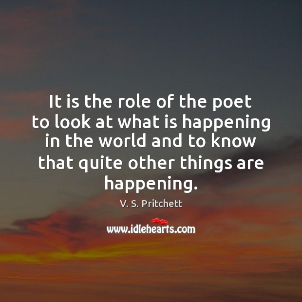 Image, It is the role of the poet to look at what is