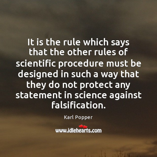 Image, It is the rule which says that the other rules of scientific