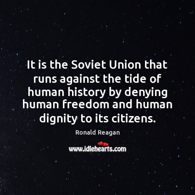 Image, It is the Soviet Union that runs against the tide of human