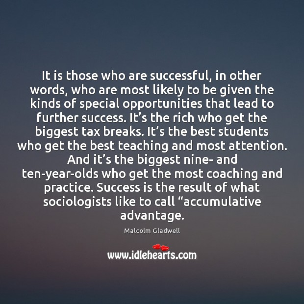 Image, It is those who are successful, in other words, who are most