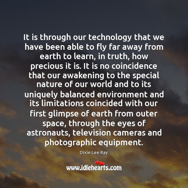 It is through our technology that we have been able to fly Image