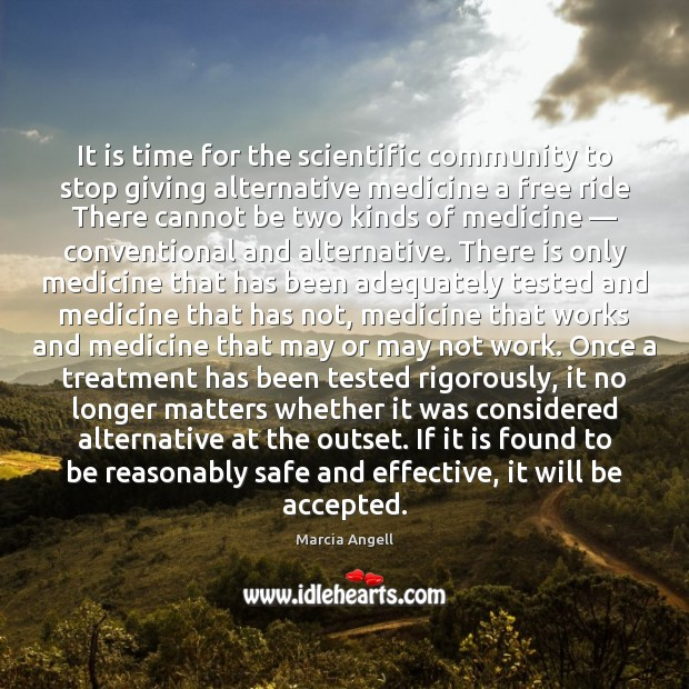 Image, It is time for the scientific community to stop giving alternative medicine