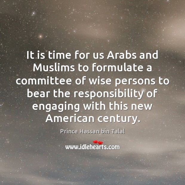 Image, It is time for us Arabs and Muslims to formulate a committee