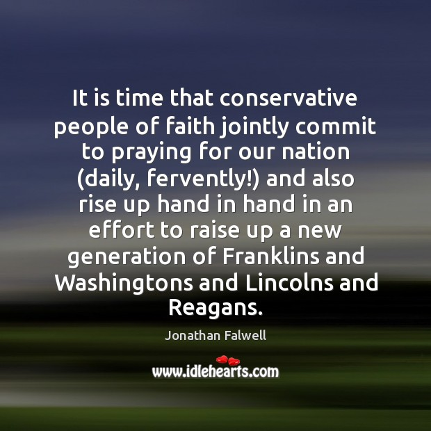 Image, It is time that conservative people of faith jointly commit to praying
