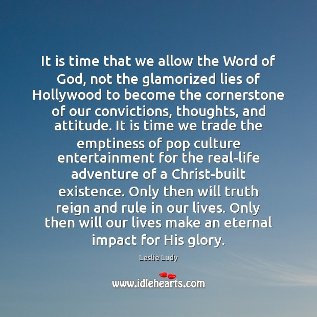 Image, It is time that we allow the Word of God, not the