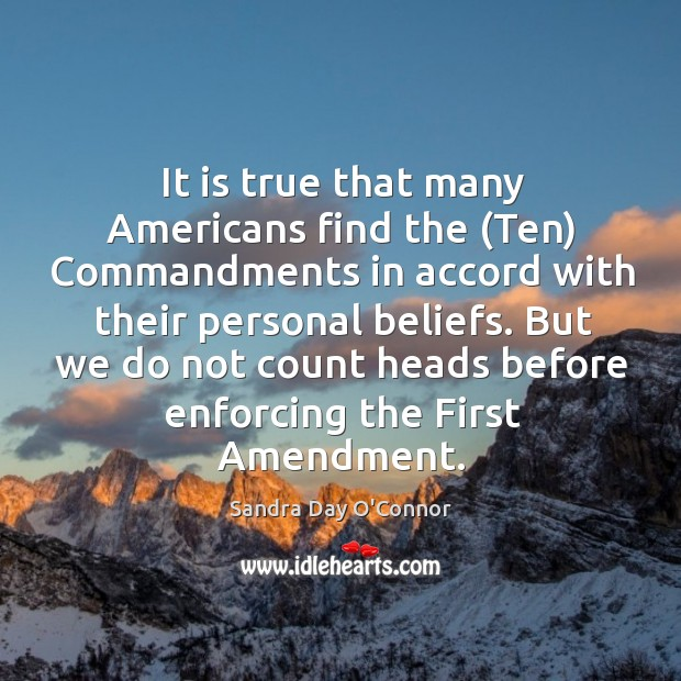 Image, It is true that many Americans find the (Ten) Commandments in accord