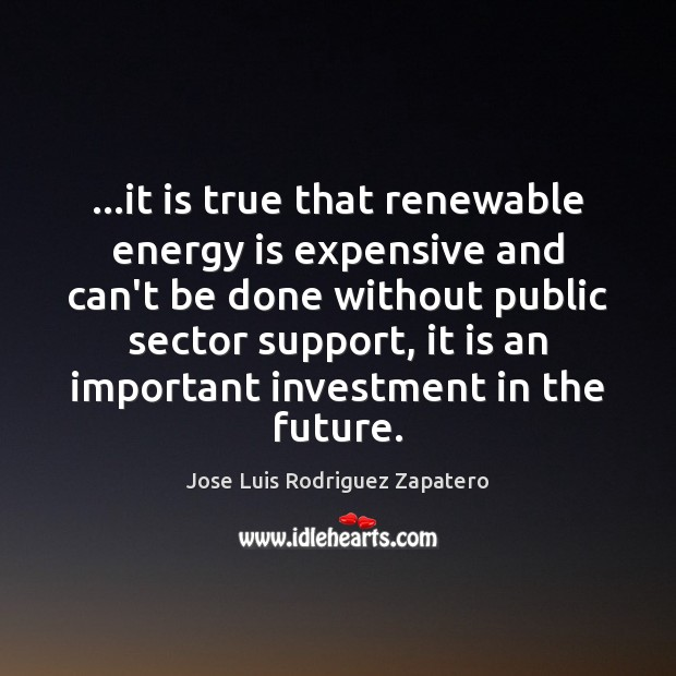 …it is true that renewable energy is expensive and can't be done Image