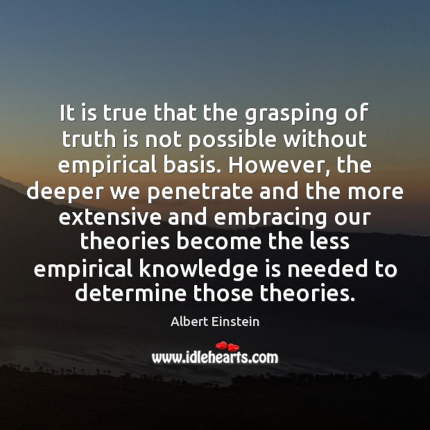 It is true that the grasping of truth is not possible without Image