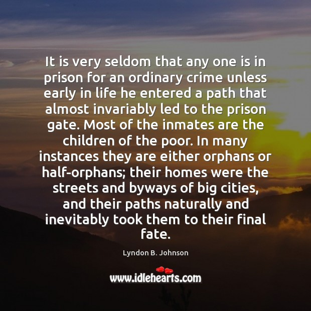 Image, It is very seldom that any one is in prison for an