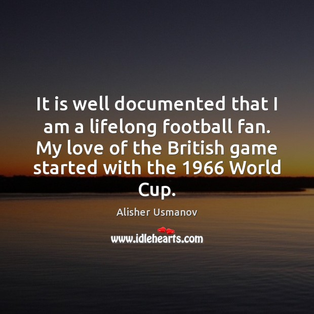 Image, It is well documented that I am a lifelong football fan. My